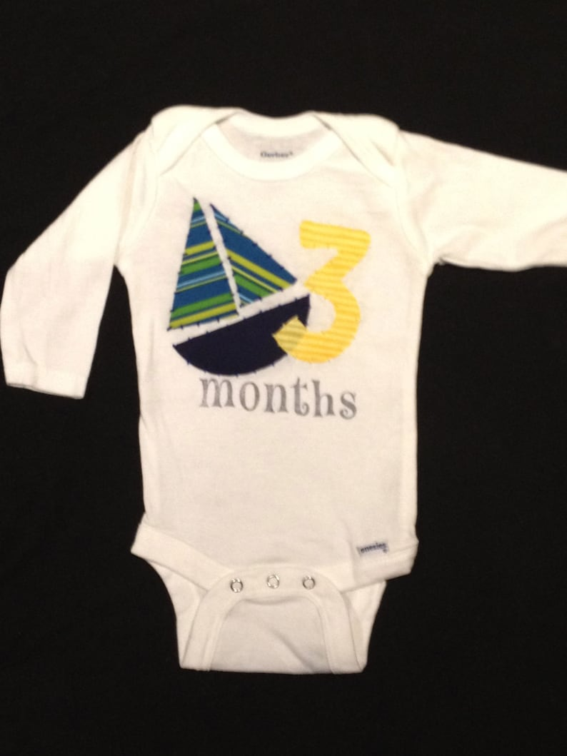 Month-by-Month Nautical Bodysuits 1-3 Months