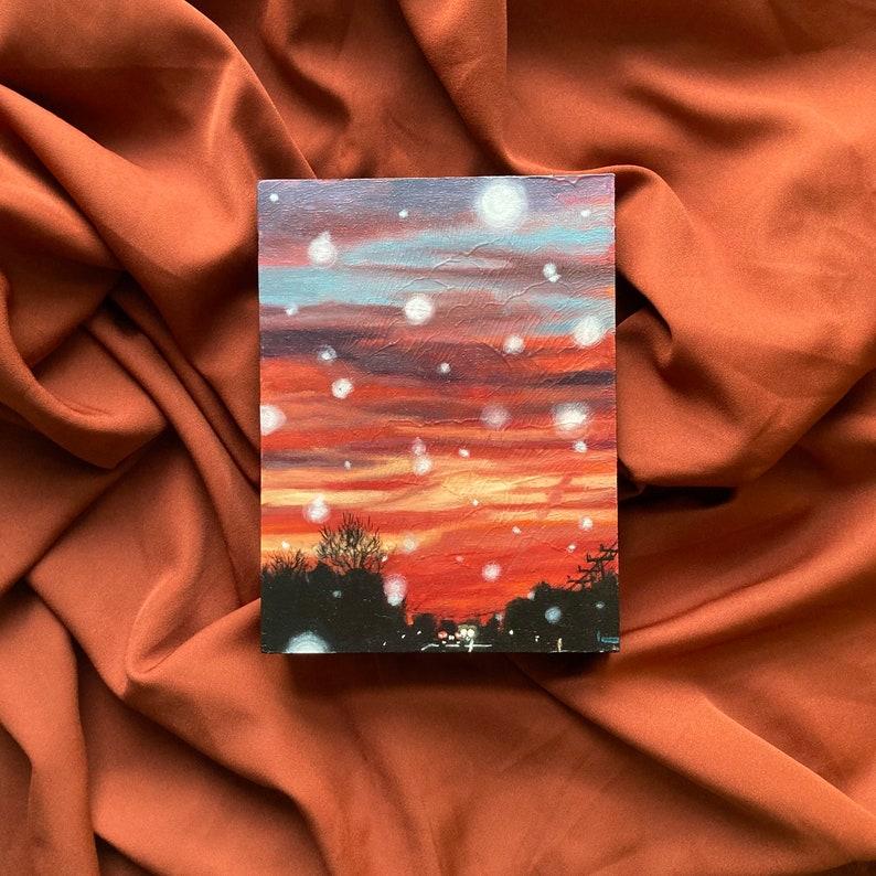 Kindling Twilight No.13 Original Acrylic Painting image 0