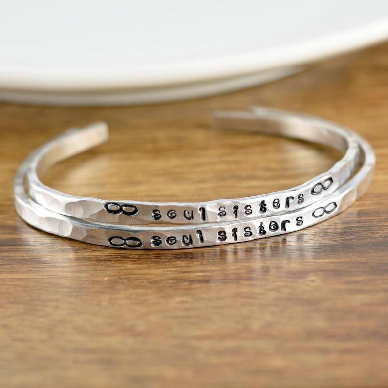 93c79a0d1cdb2 Soul Sister Gift, Soul Sister Bracelet, Gifts for Sister, Friendship  Bracelet,Best Friend Bracelet,Infinity bracelet,Secret Message Jewelry