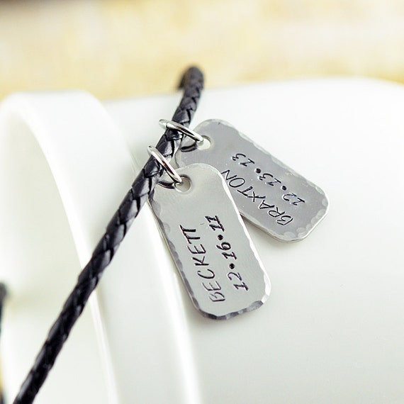 silver jewelry for men Mens necklace silver Hand stamped silver mens necklace mens personalized necklace personalized men necklace