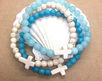 cross bracelet, bohemian jewelry, beach boho