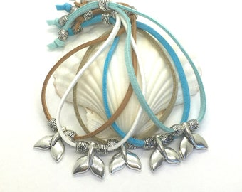 beach bracelet, boho jewelry, whale tail bracelet, gift for her