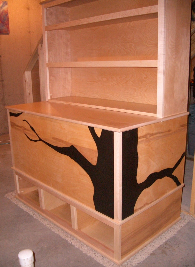 woodworking plans - toy box with cubbies and bookshelf **plans only**