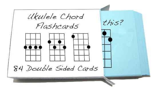 Ukulele Chord Symbol Flashcards 84 Cards For Soprano Etsy