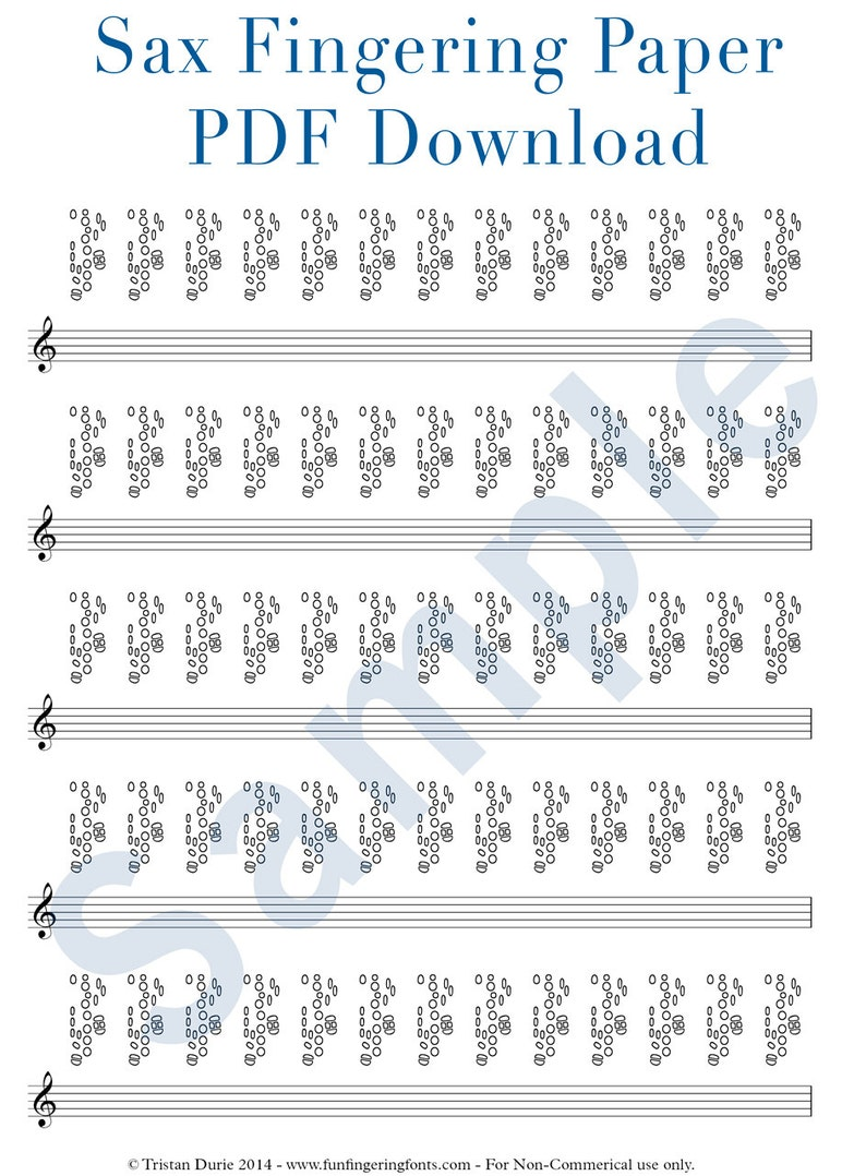 graphic about Printable Tablature called Saxophone Tablature / Fingering Paper: Obtain and Printable PDF - Excellent for mastering and education saxophone