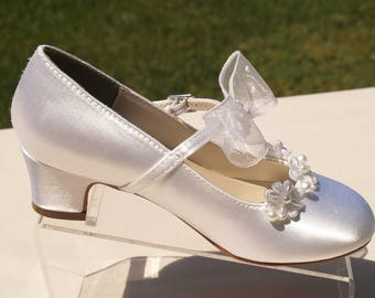 Communion shoes etsy more colors girls communion shoes beaded flowers appliques white mightylinksfo
