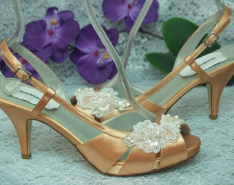 92eee50f534 Peach wedding shoes