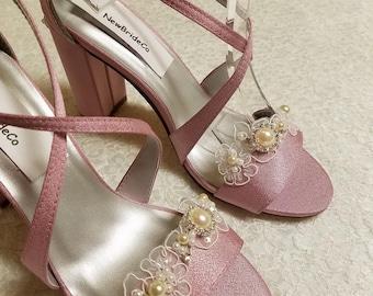 215e8060c3 Mauve weddings shoes | Etsy