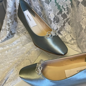 History of Victorian Boots & Shoes for Women Silver or Champagne Pump ShoesGolden Anniversary Shoeslow heel pump 1 3/4 inch heel closed toes white ivory short heels shoes Wide shoes $139.00 AT vintagedancer.com