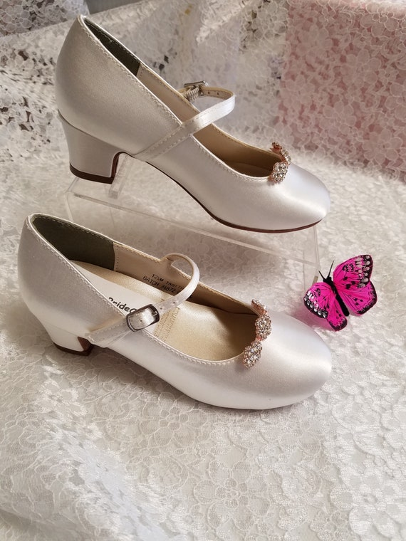 Rose Gold Girls Communion Shoes