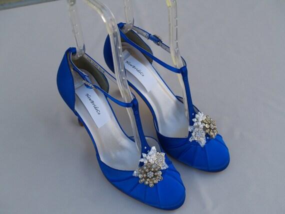 Royal Blue Wedding Shoes Vintage