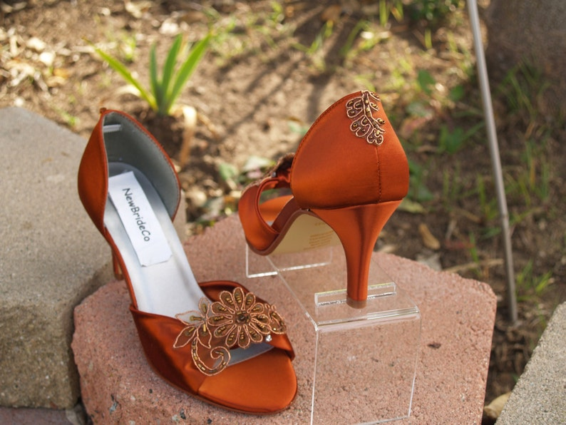 0af603313738ac Chaussures de mariage mariée mère de cuivre du demoiselles | Etsy
