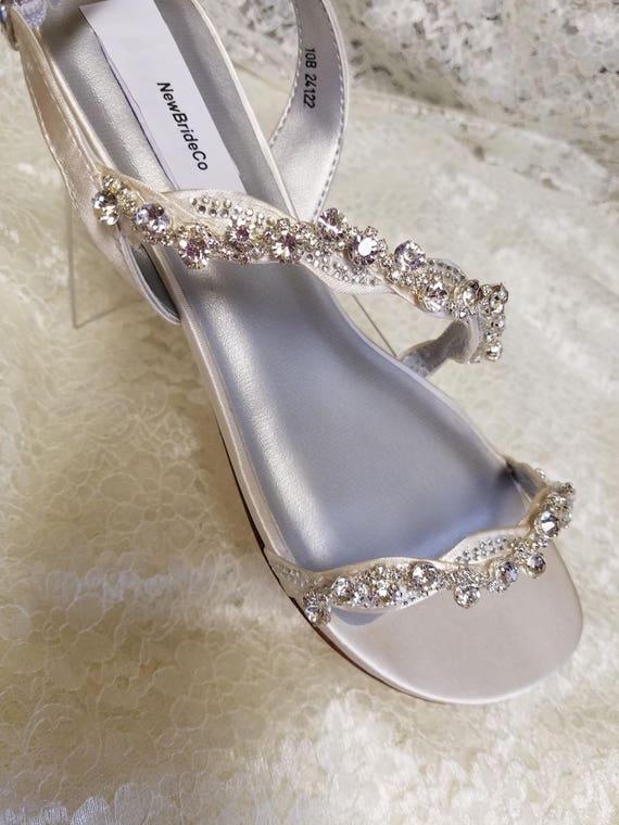 Bling Wedding Sandals low 1/2 heel