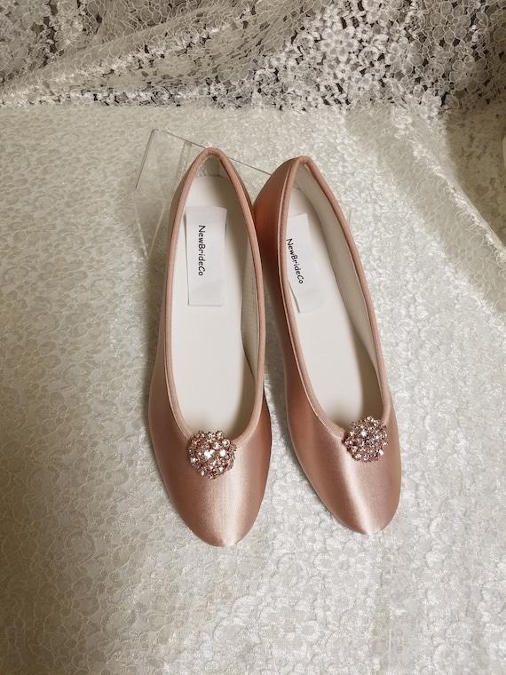 Rose Gold Wedding Flat shoes Rose gold