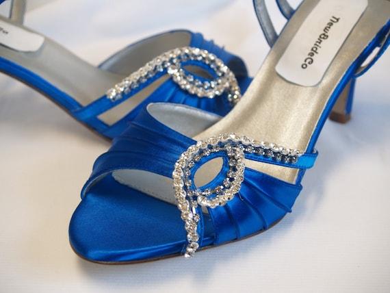 Something Blue Wedding Shoes Royal Blue