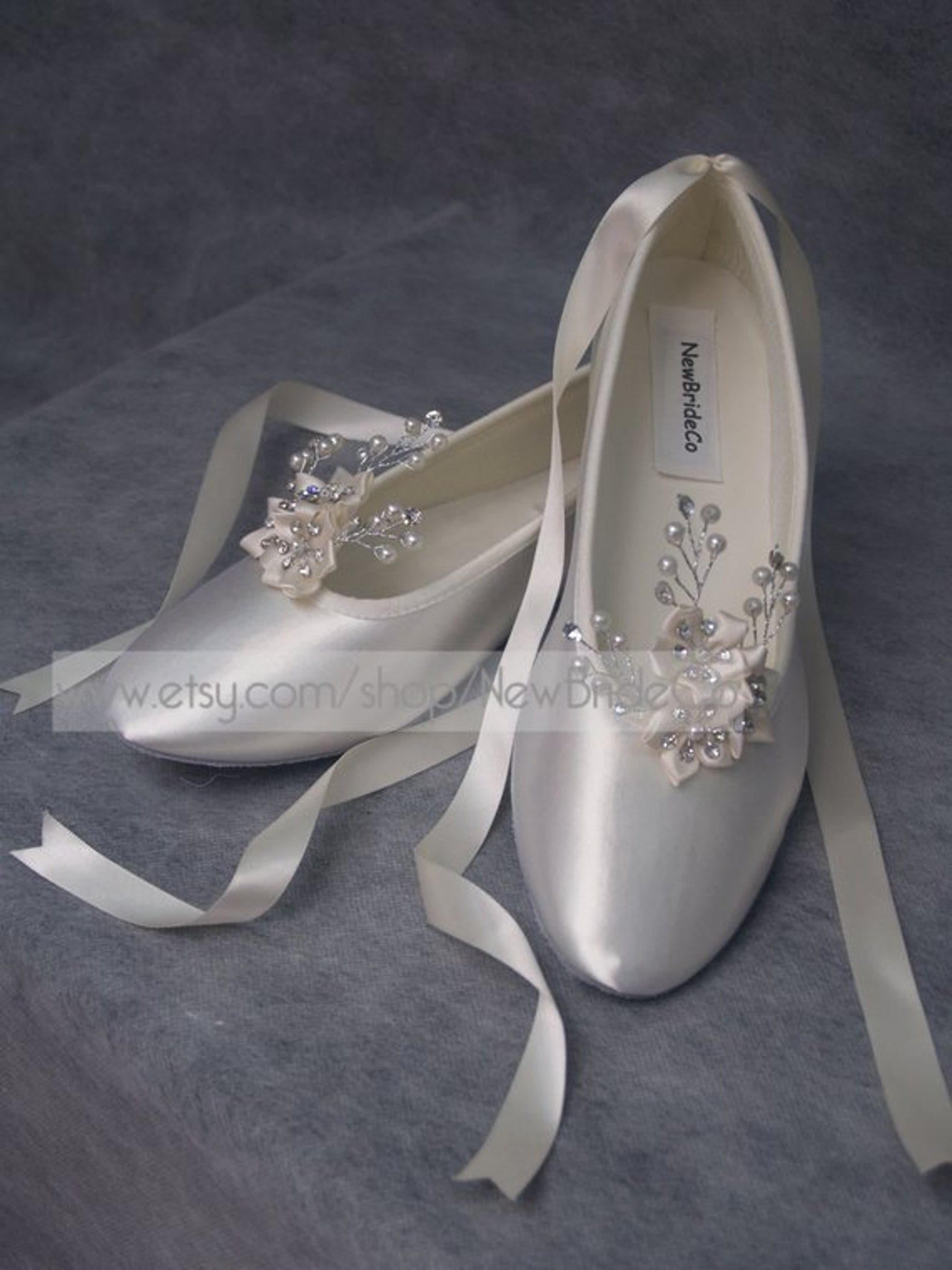 wedding ivory flats crystals and pearls,ballet style ivory slippers, bridal flat shoes ivory, poinsettia,snowflake, romantic, la