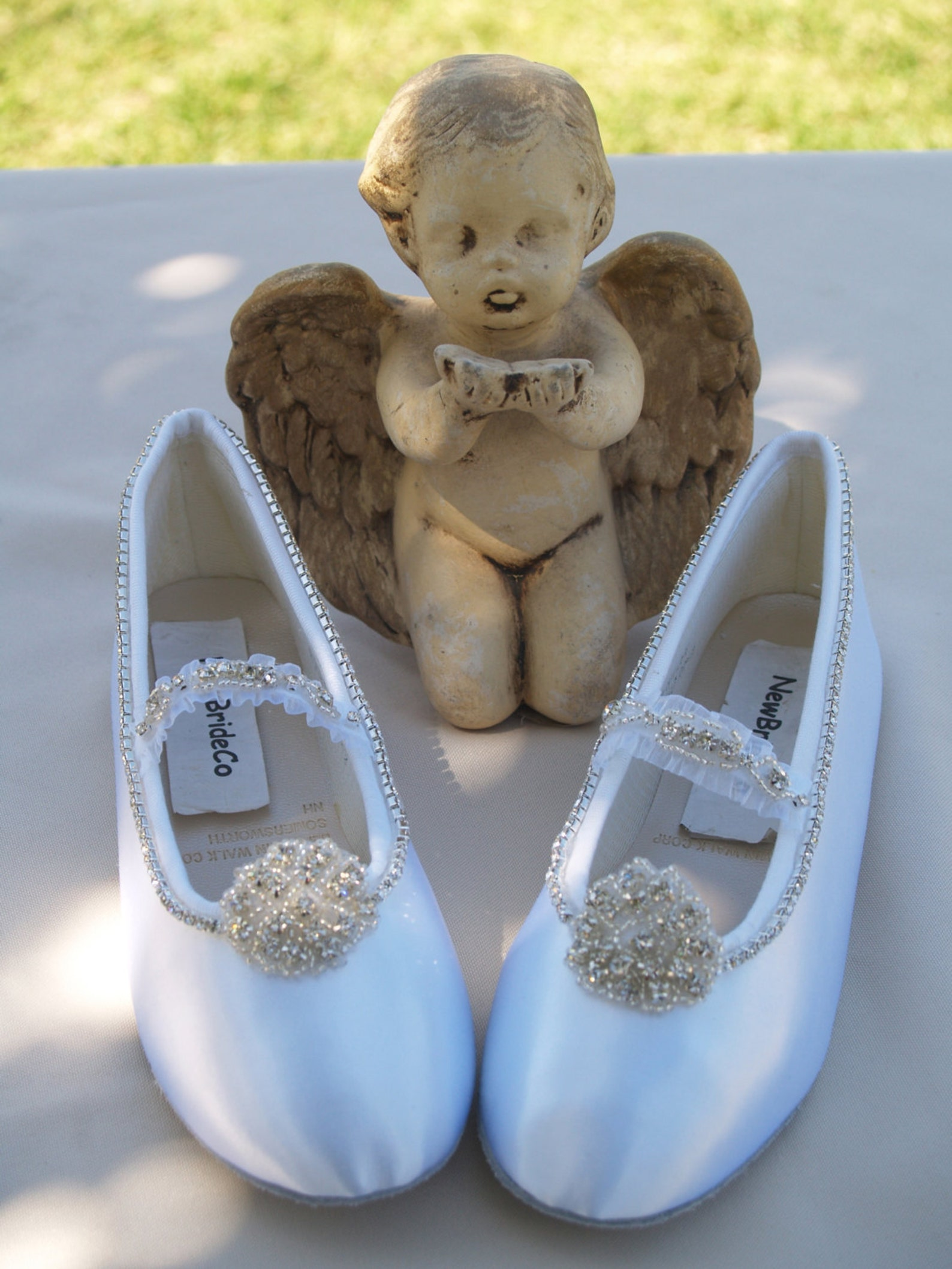 satin shoes flower girls crystals flower with strap crystals edging flats, girls ballet style slippers, closed toe flats,chic, p