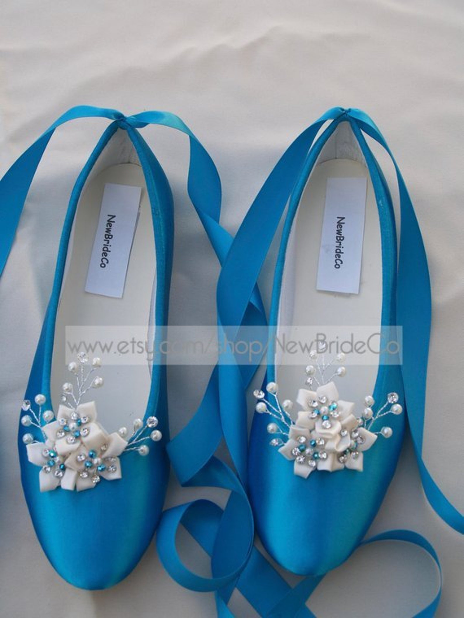 wedding blue flats crystals and pearls,ballet style ivory slippers, flat shoes custom colors available,snowflake, romantic, lace