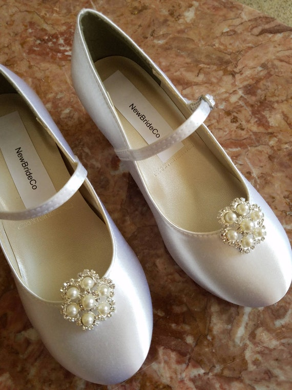 NEW Girls Communion //Party //Wedding white Heel Shoes