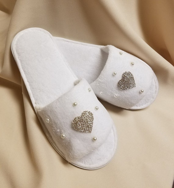 Brides bedroom Slippers white with