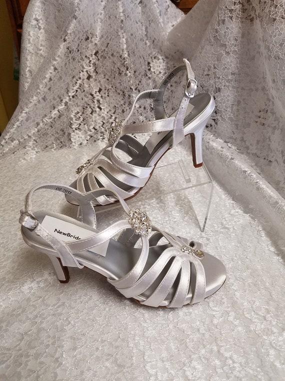 Wedding Strap Shoes Medium Heel Reg and