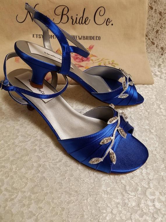 Royal Blue Wedding Shoes 1 3/4'' heel