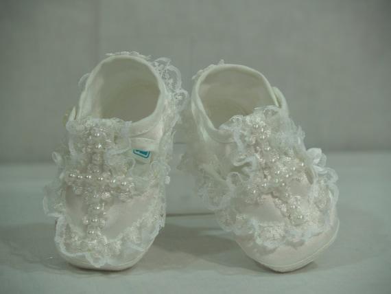 Christening Shoes Baby Girls White