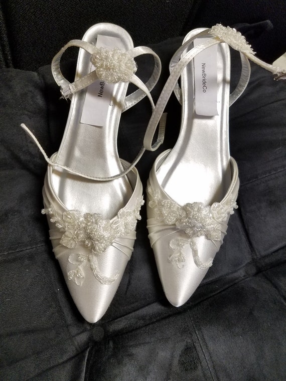 Wedding Ivory Shoes closed toes Very