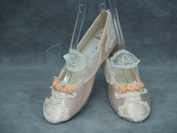 peach flat shoes