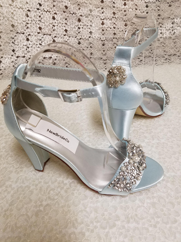 Size 8 1/2 Powder Blue Shoes Bridal