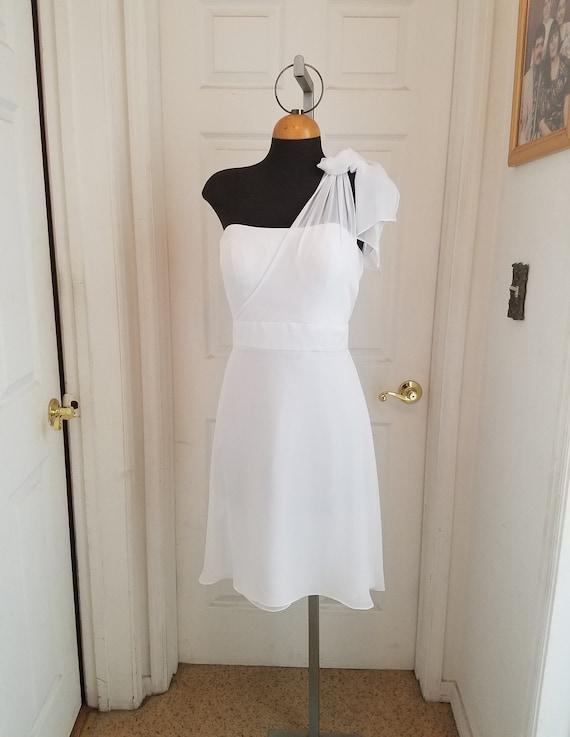 Wedding short dress, white short dress, destinatio