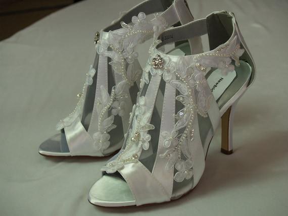 Viktorianischen Hochzeitsschuhe Stiefel Moderne High Heels Etsy