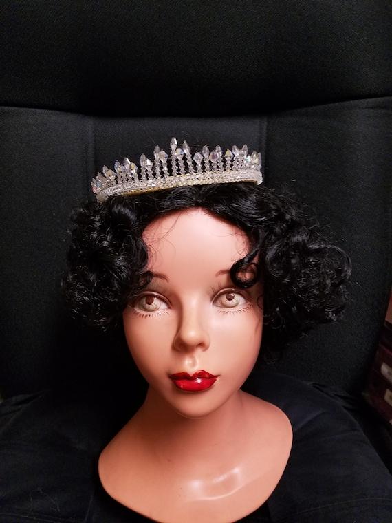 Vintage Wedding Crown crystals,Queen,crystals crow