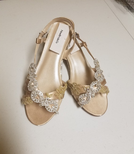 Silver Wedge Wedding Shoes: