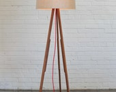 Modern Floor Lamp (natural/red)