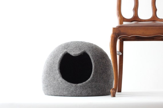 Naturliche Graue Katze Bett Hohle Kinderbett Haustier Haus Etsy