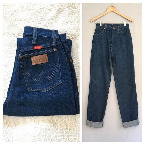 Wrangler jeans | 1990s blue high waist jeans | 90s