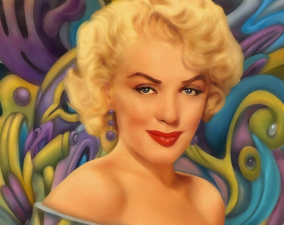 Marilyn Monroe Surreal Portrait Limited Edition Print on Premium matte paper with archival ink // Signed Art // Art print // Limited Edition