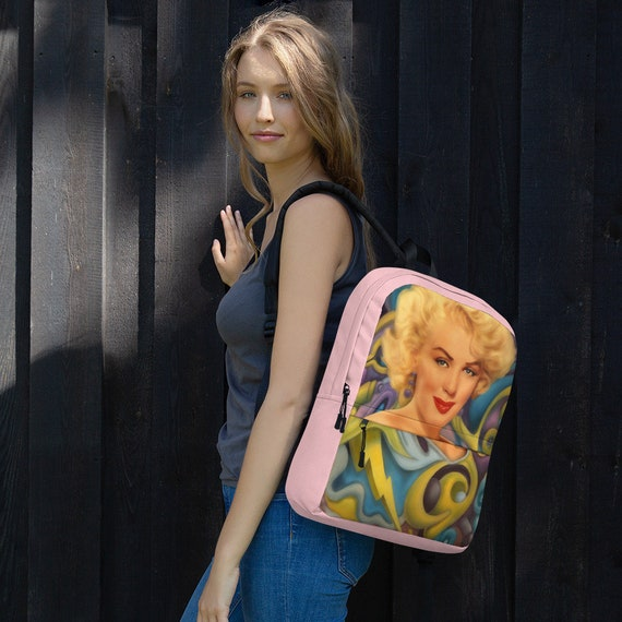 Marilyn Monroe Surreal POP Art Print Backpack