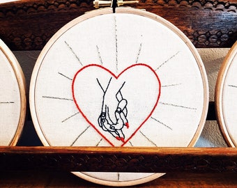 EMBROIDERY IN A HOOP Hold  My Hand She & Him
