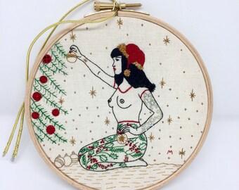 EMBROIDERY KIT The Winter Tattooed Lady, Beautiful Judy