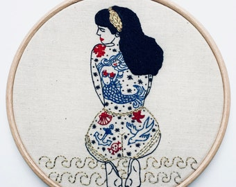 EMBROIDERY KIT The Summer Tattooed Lady