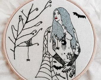 EMBROIDERY KIT The Autumn Tattooed  Lady