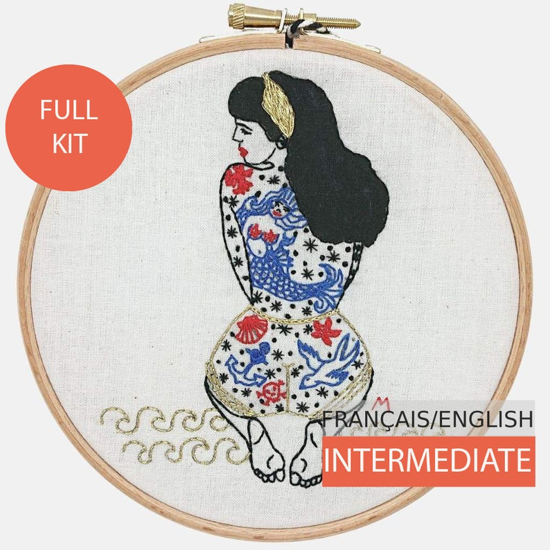 Modern Embroidery Kit DIY kit Hand embroidery pattern  image 0