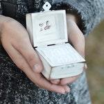 Rustic I DO ring bearer box