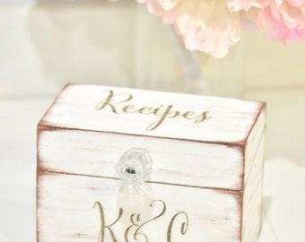 Personalized recipe box, wooden recipe box, home decorations, wedding gift