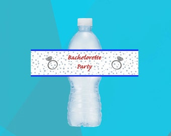 Bachelorette Party Water Bottle Labels Printable - Bachelorette water bottle label template