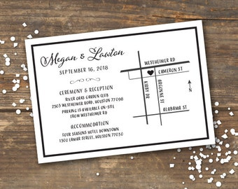 Wedding Map Direction Card Printable