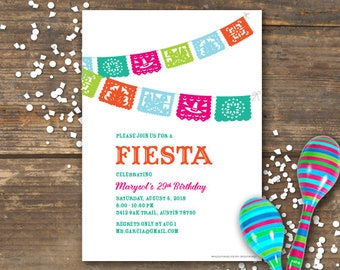Fiesta Party Invitation Printable