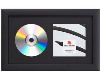 CD Cover Sleeve /& Disc Display Frame with Stand